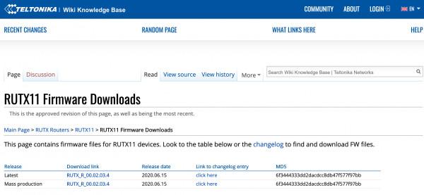 Firmware Version RUTX_R_00.02.03.4