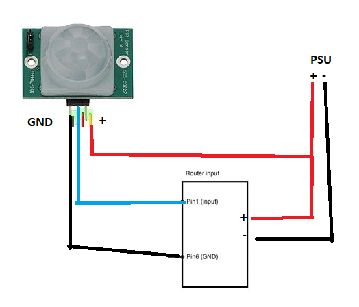 Circuit Diagram For Hc Sr501 Pir And